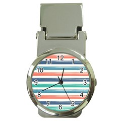 Summer Mood Striped Pattern Money Clip Watches