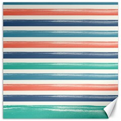 Summer Mood Striped Pattern Canvas 12  X 12