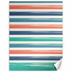 Summer Mood Striped Pattern Canvas 12  X 16