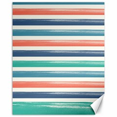 Summer Mood Striped Pattern Canvas 16  X 20