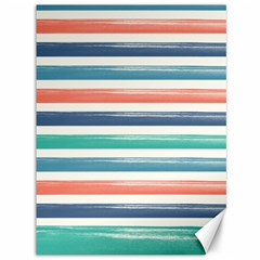 Summer Mood Striped Pattern Canvas 36  X 48   by DanaeStudio