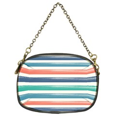 Summer Mood Striped Pattern Chain Purses (two Sides)
