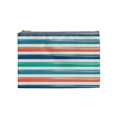 Summer Mood Striped Pattern Cosmetic Bag (medium)  by DanaeStudio