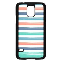 Summer Mood Striped Pattern Samsung Galaxy S5 Case (black) by DanaeStudio