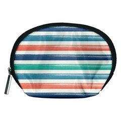 Summer Mood Striped Pattern Accessory Pouches (medium)  by DanaeStudio