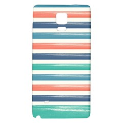 Summer Mood Striped Pattern Galaxy Note 4 Back Case by DanaeStudio