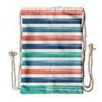 Summer Mood Striped Pattern Drawstring Bag (Large) Front