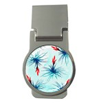 Tillansia Flowers Pattern Money Clips (Round)  Front
