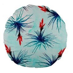 Tillansia Flowers Pattern Large 18  Premium Flano Round Cushions by DanaeStudio