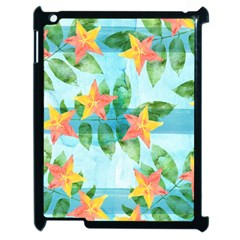Tropical Starfruit Pattern Apple Ipad 2 Case (black) by DanaeStudio