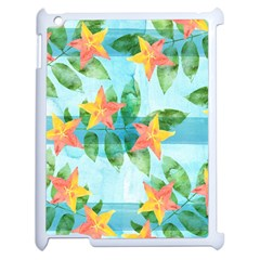 Tropical Starfruit Pattern Apple Ipad 2 Case (white) by DanaeStudio