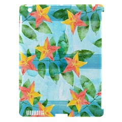Tropical Starfruit Pattern Apple Ipad 3/4 Hardshell Case (compatible With Smart Cover) by DanaeStudio