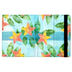 Tropical Starfruit Pattern Apple Ipad 3/4 Flip Case by DanaeStudio
