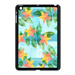 Tropical Starfruit Pattern Apple Ipad Mini Case (black) by DanaeStudio