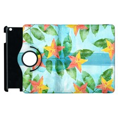 Tropical Starfruit Pattern Apple Ipad 2 Flip 360 Case by DanaeStudio