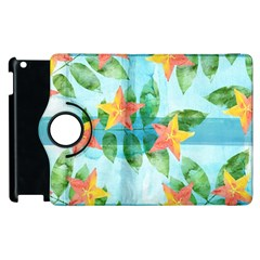 Tropical Starfruit Pattern Apple Ipad 3/4 Flip 360 Case by DanaeStudio