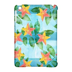 Tropical Starfruit Pattern Apple Ipad Mini Hardshell Case (compatible With Smart Cover) by DanaeStudio