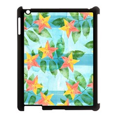 Tropical Starfruit Pattern Apple Ipad 3/4 Case (black) by DanaeStudio