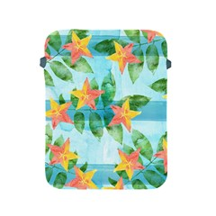 Tropical Starfruit Pattern Apple Ipad 2/3/4 Protective Soft Cases by DanaeStudio