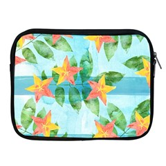 Tropical Starfruit Pattern Apple Ipad 2/3/4 Zipper Cases by DanaeStudio