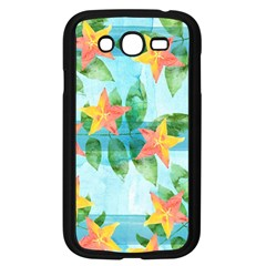 Tropical Starfruit Pattern Samsung Galaxy Grand Duos I9082 Case (black) by DanaeStudio
