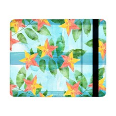 Tropical Starfruit Pattern Samsung Galaxy Tab Pro 8 4  Flip Case by DanaeStudio