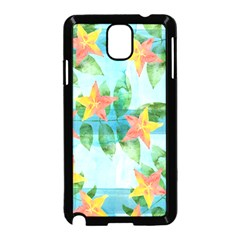 Tropical Starfruit Pattern Samsung Galaxy Note 3 Neo Hardshell Case (black) by DanaeStudio