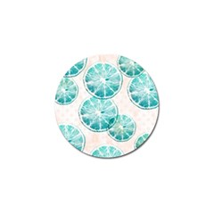 Turquoise Citrus And Dots Golf Ball Marker (4 Pack) by DanaeStudio