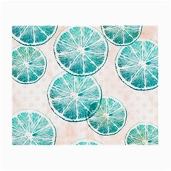Turquoise Citrus And Dots Small Glasses Cloth (2 Side) by DanaeStudio