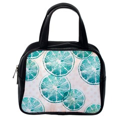Turquoise Citrus And Dots Classic Handbags (one Side) by DanaeStudio