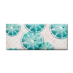 Turquoise Citrus And Dots Cosmetic Storage Cases by DanaeStudio