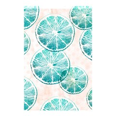 Turquoise Citrus And Dots Shower Curtain 48  X 72  (small)  by DanaeStudio