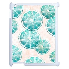 Turquoise Citrus And Dots Apple Ipad 2 Case (white) by DanaeStudio
