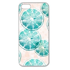 Turquoise Citrus And Dots Apple Seamless Iphone 5 Case (clear) by DanaeStudio