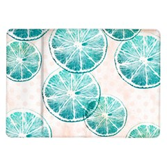 Turquoise Citrus And Dots Samsung Galaxy Tab 10 1  P7500 Flip Case by DanaeStudio