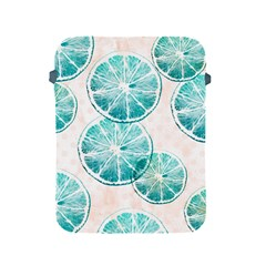 Turquoise Citrus And Dots Apple Ipad 2/3/4 Protective Soft Cases by DanaeStudio