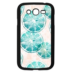 Turquoise Citrus And Dots Samsung Galaxy Grand Duos I9082 Case (black) by DanaeStudio