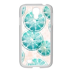 Turquoise Citrus And Dots Samsung Galaxy S4 I9500/ I9505 Case (white) by DanaeStudio