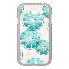 Turquoise Citrus And Dots Samsung Galaxy Grand Duos I9082 Case (white) by DanaeStudio