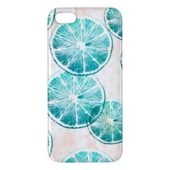 Turquoise Citrus And Dots Iphone 5s/ Se Premium Hardshell Case