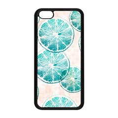 Turquoise Citrus And Dots Apple Iphone 5c Seamless Case (black)