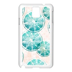 Turquoise Citrus And Dots Samsung Galaxy Note 3 N9005 Case (white)