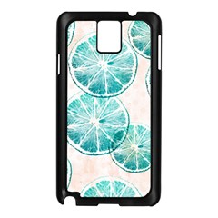 Turquoise Citrus And Dots Samsung Galaxy Note 3 N9005 Case (black) by DanaeStudio