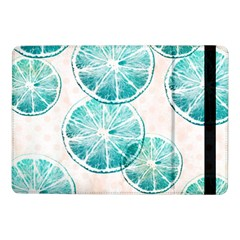 Turquoise Citrus And Dots Samsung Galaxy Tab Pro 10 1  Flip Case