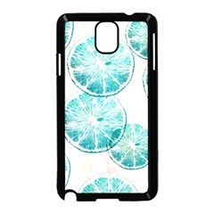 Turquoise Citrus And Dots Samsung Galaxy Note 3 Neo Hardshell Case (black)