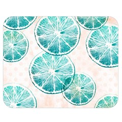 Turquoise Citrus And Dots Double Sided Flano Blanket (medium)