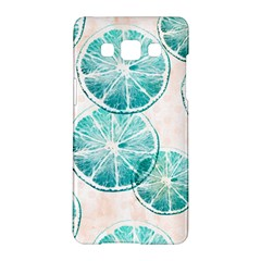 Turquoise Citrus And Dots Samsung Galaxy A5 Hardshell Case  by DanaeStudio