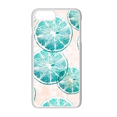 Turquoise Citrus And Dots Apple Iphone 7 Plus White Seamless Case