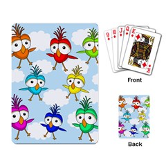 Cute Colorful Birds  Playing Card by Valentinaart