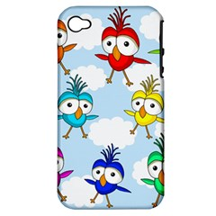 Cute Colorful Birds  Apple Iphone 4/4s Hardshell Case (pc+silicone) by Valentinaart